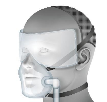 An illustration of the air shield mask
